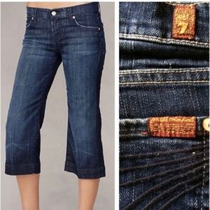 7FAM Dojo crop dark wash jeans